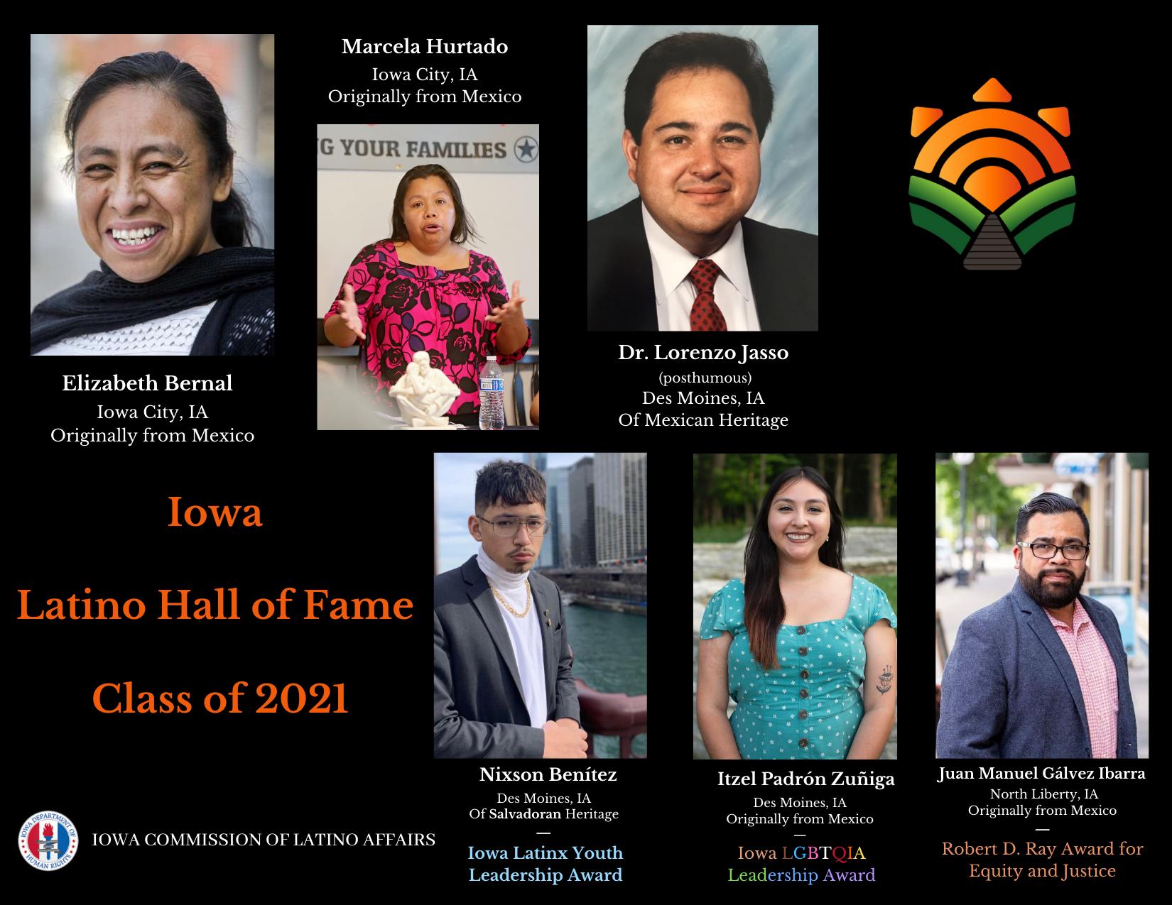 2021 Iowa Latino Hall of Fame Honorees