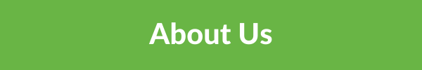 green banner with 'about us' in white text