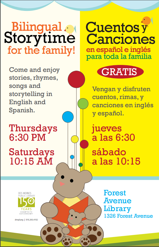 Bilingual Story TIme FLier