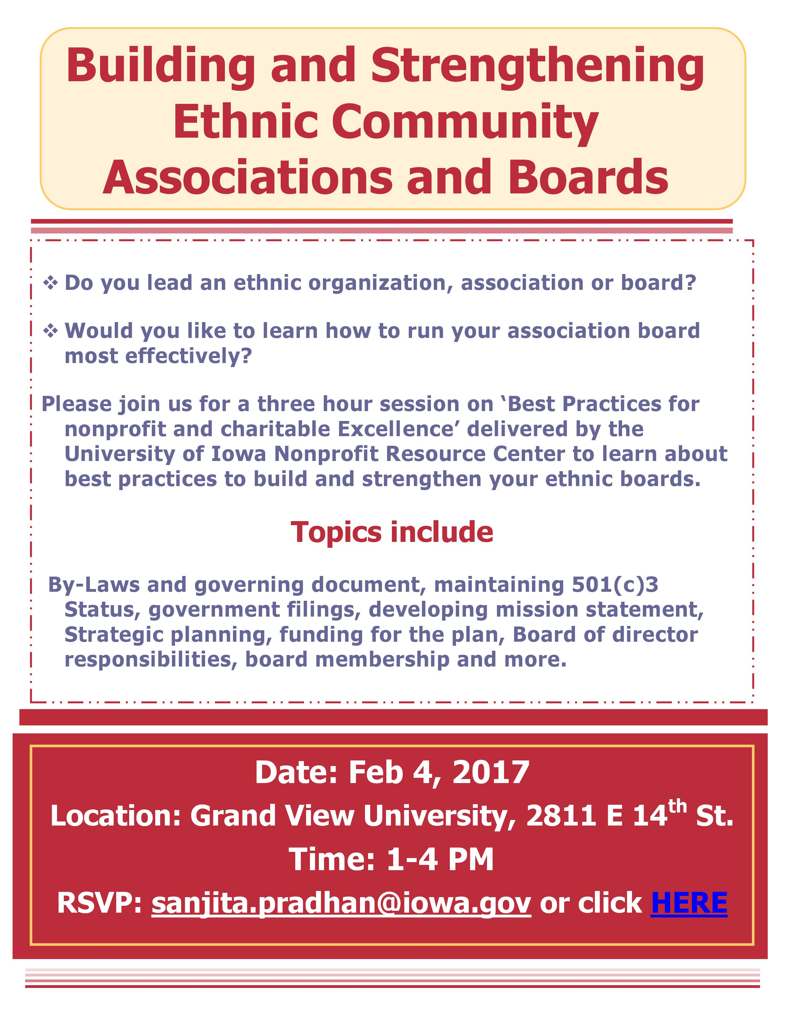 Building Ethnic Boards